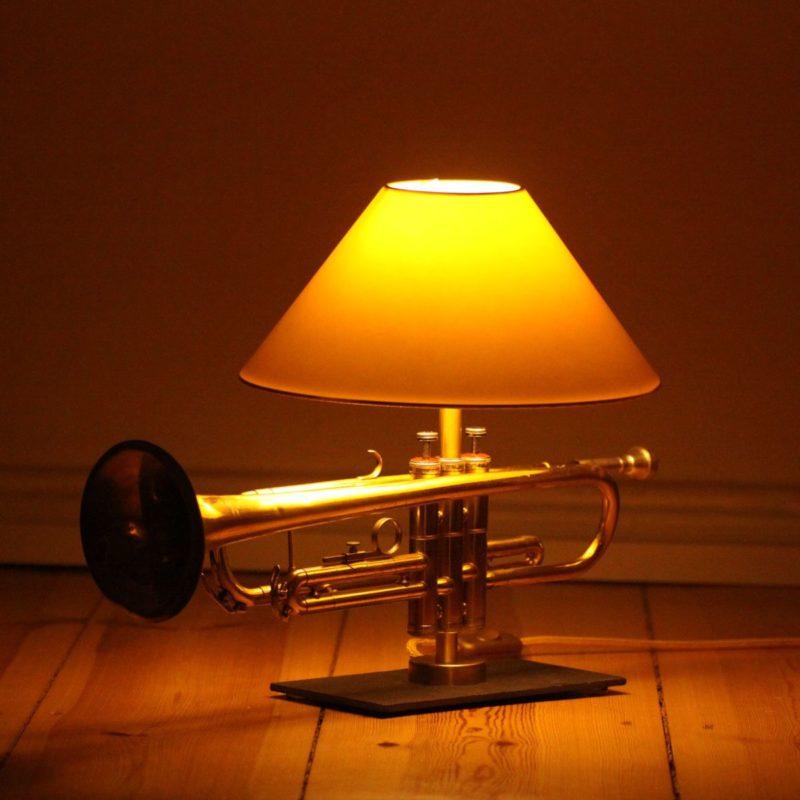 Trompete Lampe Design Tischleuchte Trompetenlampe Einzelstück